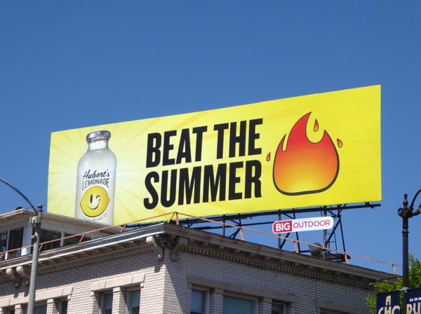 Huberts Lemonade Beat the Summer heat billboard