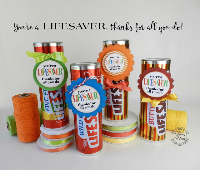 "You're a Lifesaver-Thanks for All You Do-3"" Tags"