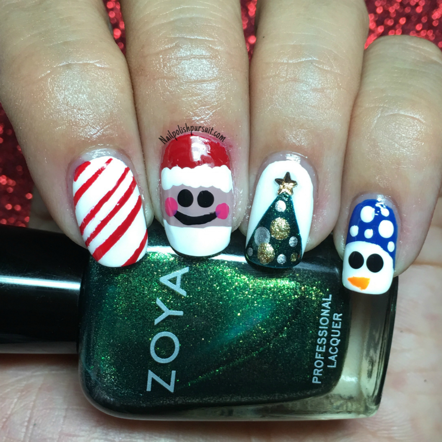 Christmas Nails Tutorial Youtube: KellieGonzo: Guest Post By Nail Polish Pursuit: Christmas