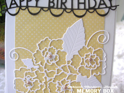 CAS happy birthday card in yellow detail
