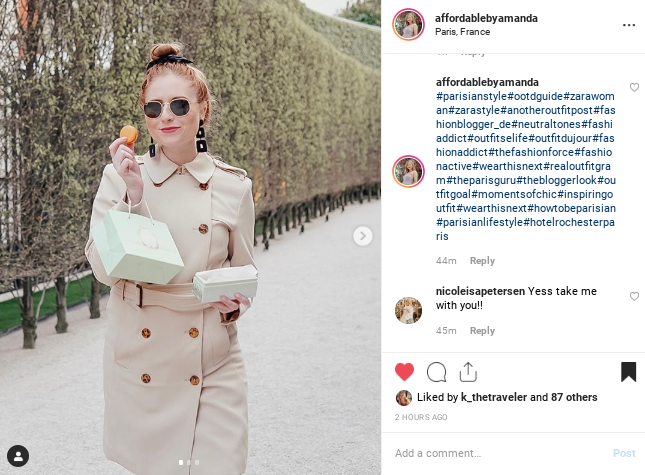 instagram and tampa blogger amanda burrows shares her tips for beating the Instagram algorithm using relevant hashtags. she also uses a hashtag generator to gain more interest on her photos on Instagram.