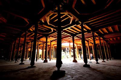 Le Chameau Bleu - Mosquée Juma à Khiva Ouzbékistan