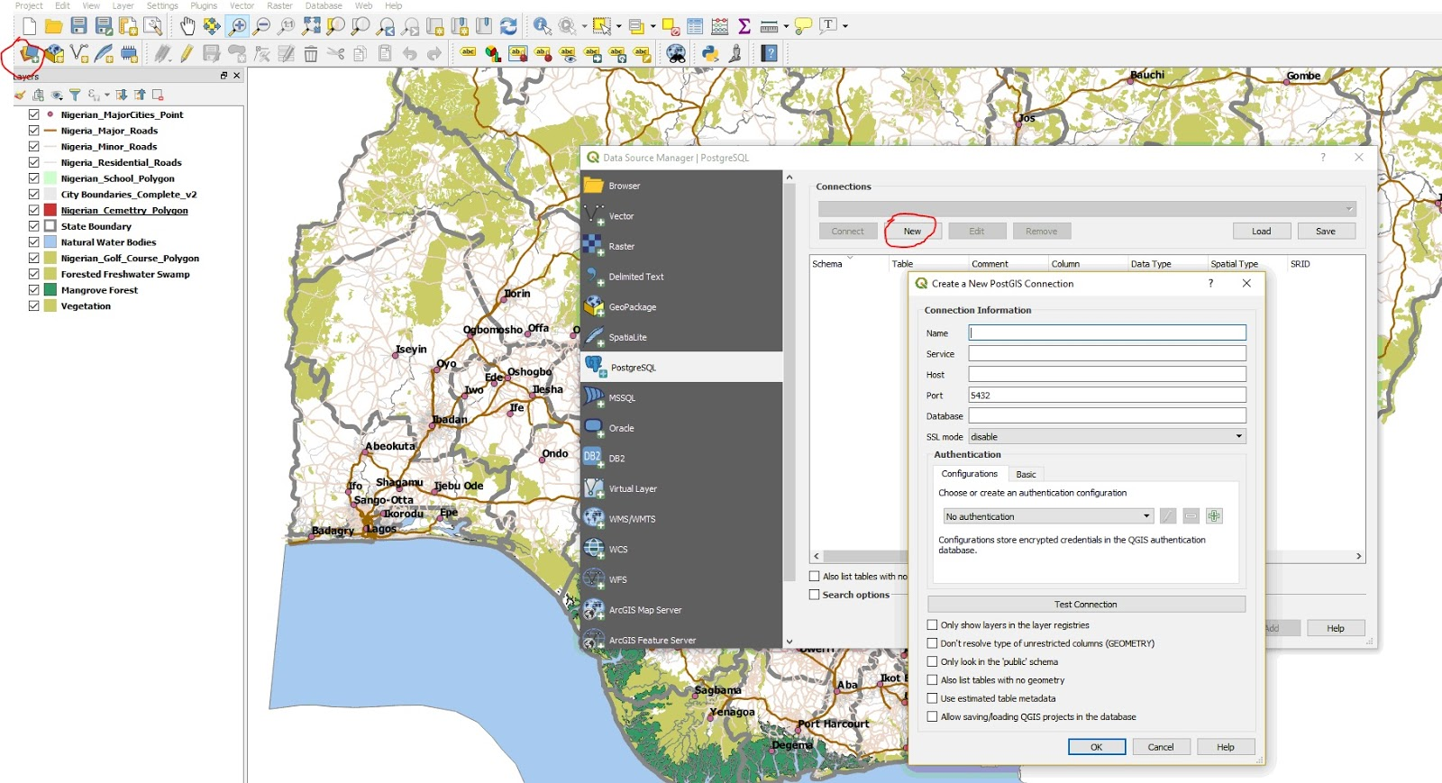 PostgreSQL and QGIS -A Marriage of Convenience for Nigerian GIS