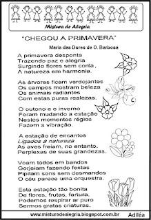 Poesia chegou a primavera
