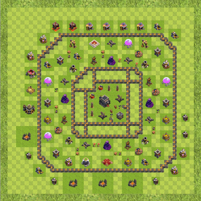 War Base Town Hall Level 9 By OuterSpaceNotPi (Anti 2 Star TH 9 Layout)