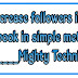How to increase followers in facebook in simple method ? - Mighty Technics