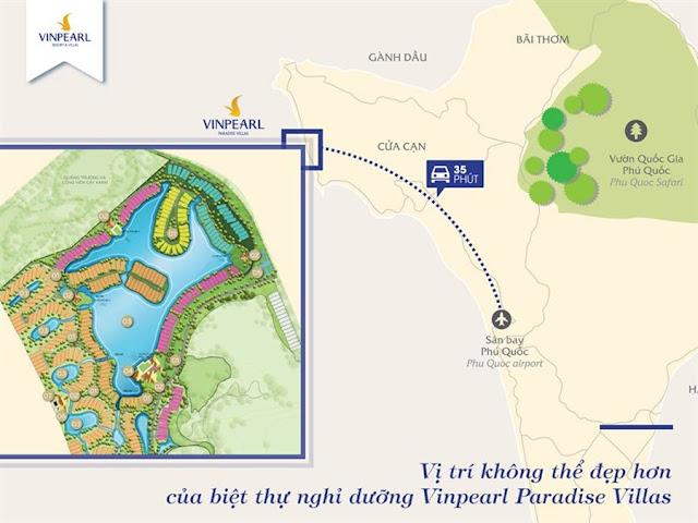 Vị trí Vinpearl Phú Quốc 4 Resort & Villas