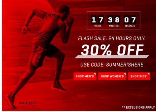 PUMA Flash Sale 30% Off Promo Code