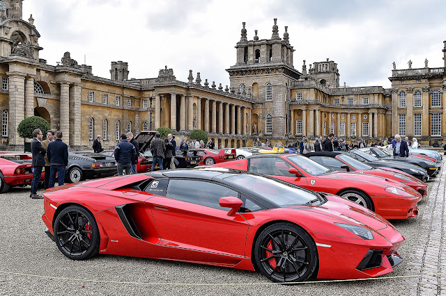 Supercars and classics on display at Blenheim Palace close-up
