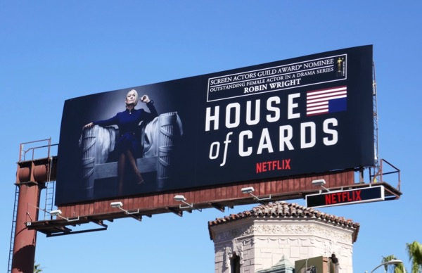 Robin Wright House of Cards S6 SAG nominee billboard