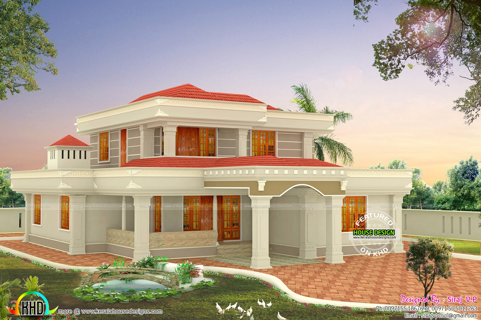 Bedroom  Sqft Modern Home Kerala Home Design Bloglovin - 5 bedroom house modern