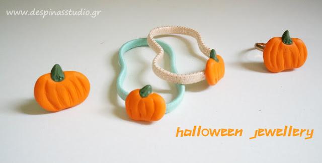 Polymer clay pumpkin charms
