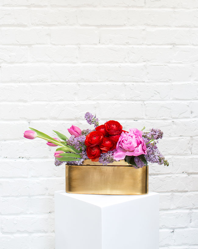Easy floral arrangement with instant impact by Mandy Majerik for Accent Decor