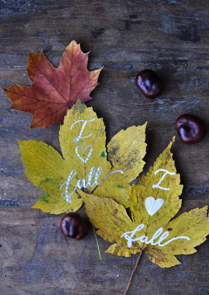 #diy #painted #leafs, the perfect DIY for #fall