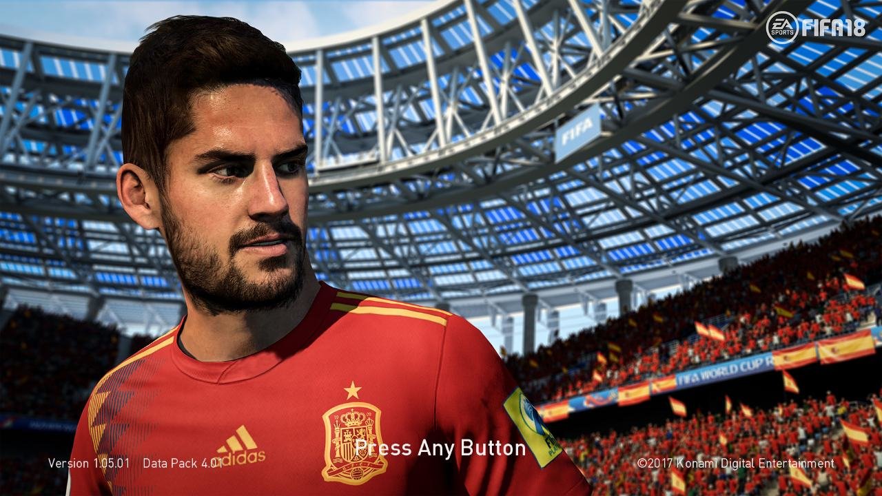 PES 2018 Isco World Cup 2018 Start Screen by ABW