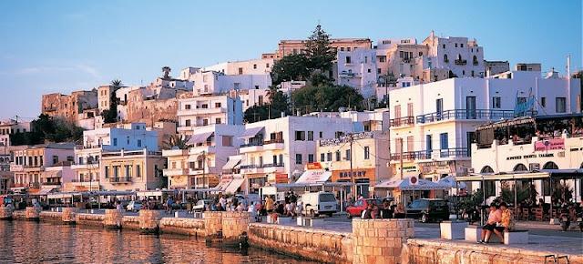 Restaurante em Naxos, Grécia
