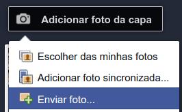 Como fazer para enviar para capa do perfil do Facebook