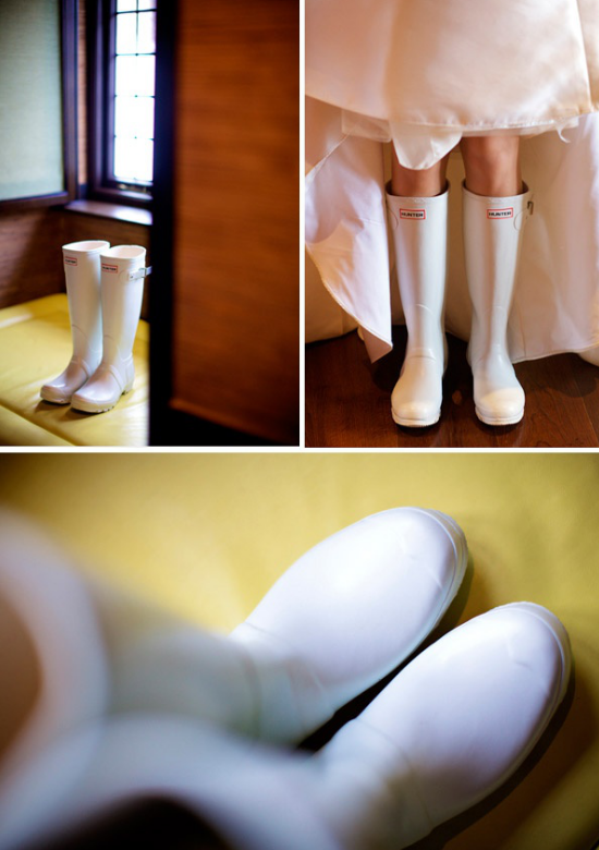 Alternative bridal shoes, raining boots, bridal boots