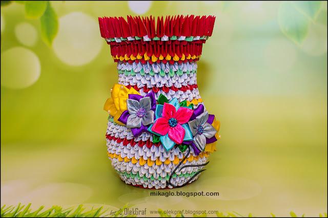 450. Jak zrobić wazon na kwiaty z origami – kurs / 3d origami vase tutorial