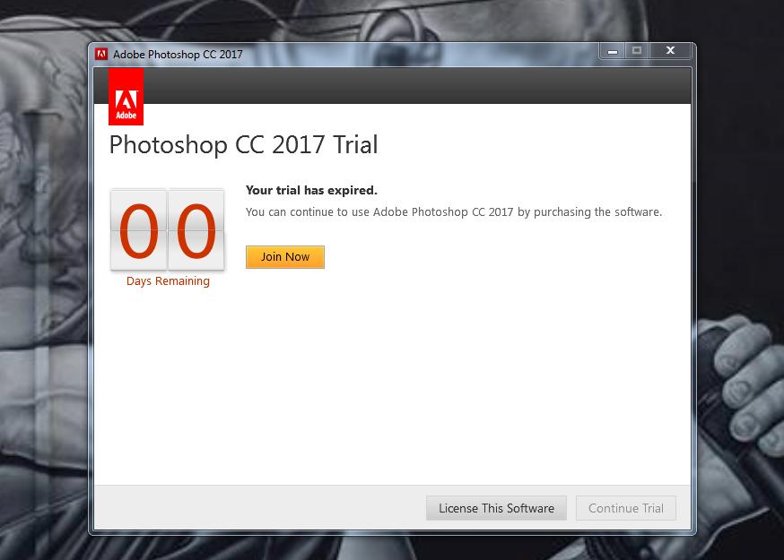 Adobe photoshop cc 2017 trial