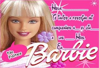 Mi Mundo Barbie Invitaciones Para Imprimir
