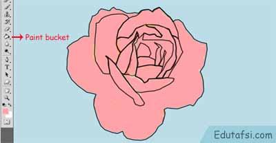 mewarnai bunga mawar di photoshop