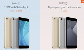 Xiaomi Launched 2 Budget Phones Redmi Y1 and Redmi Y1 Lite