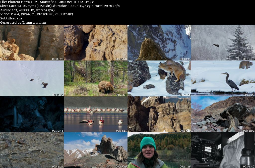 Planeta Tierra II: 2 – Montañas [BBC – HD1080p]