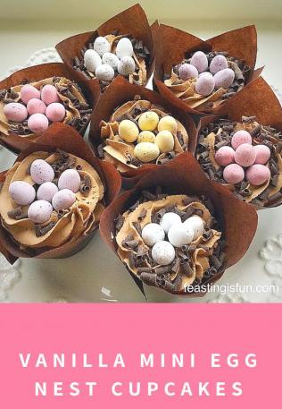 Vanilla Mini Egg Nest Cupcakes