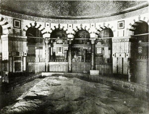Interior de la Cúpula de la Roca en 1910