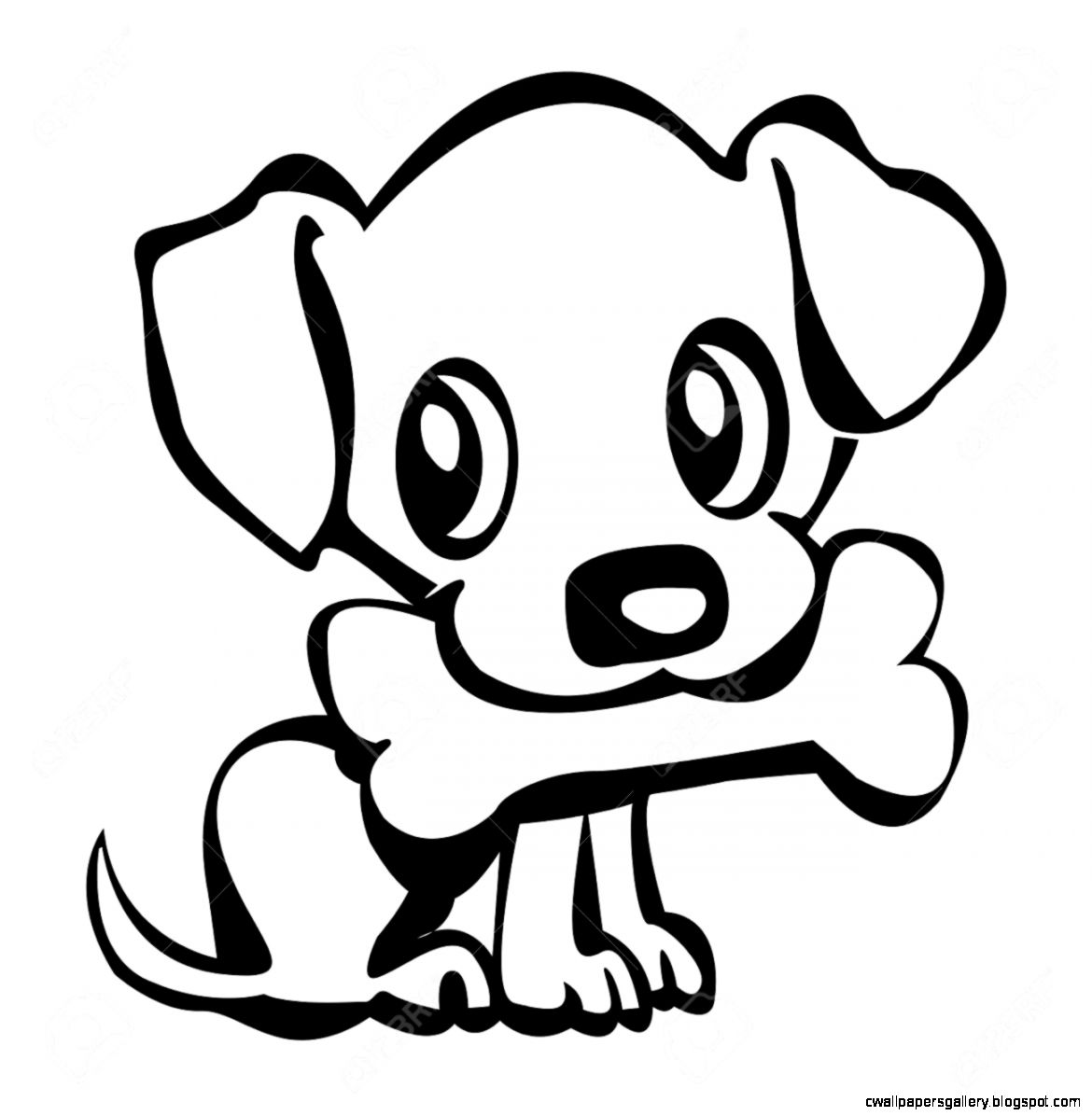 Cute dog drawings - photo#43