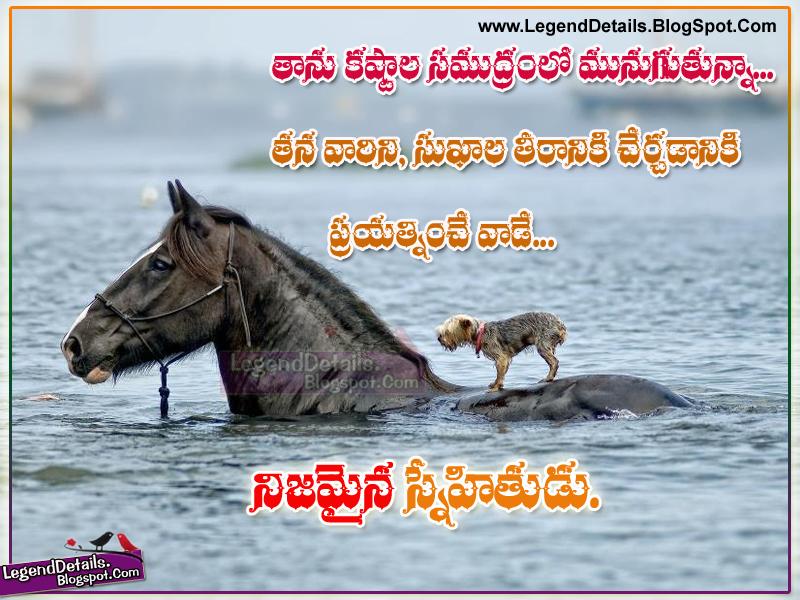 Best Telugu True Friendship Quotes Quotations Legendary Quotes