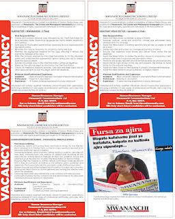 Job Opportunities at Mwananchi Communications Ltd