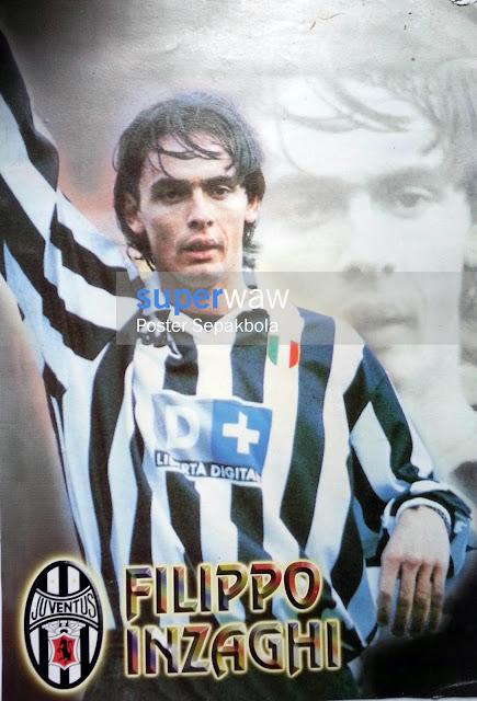 Poster Karton Filippo Inzaghi (Juventus 1998)