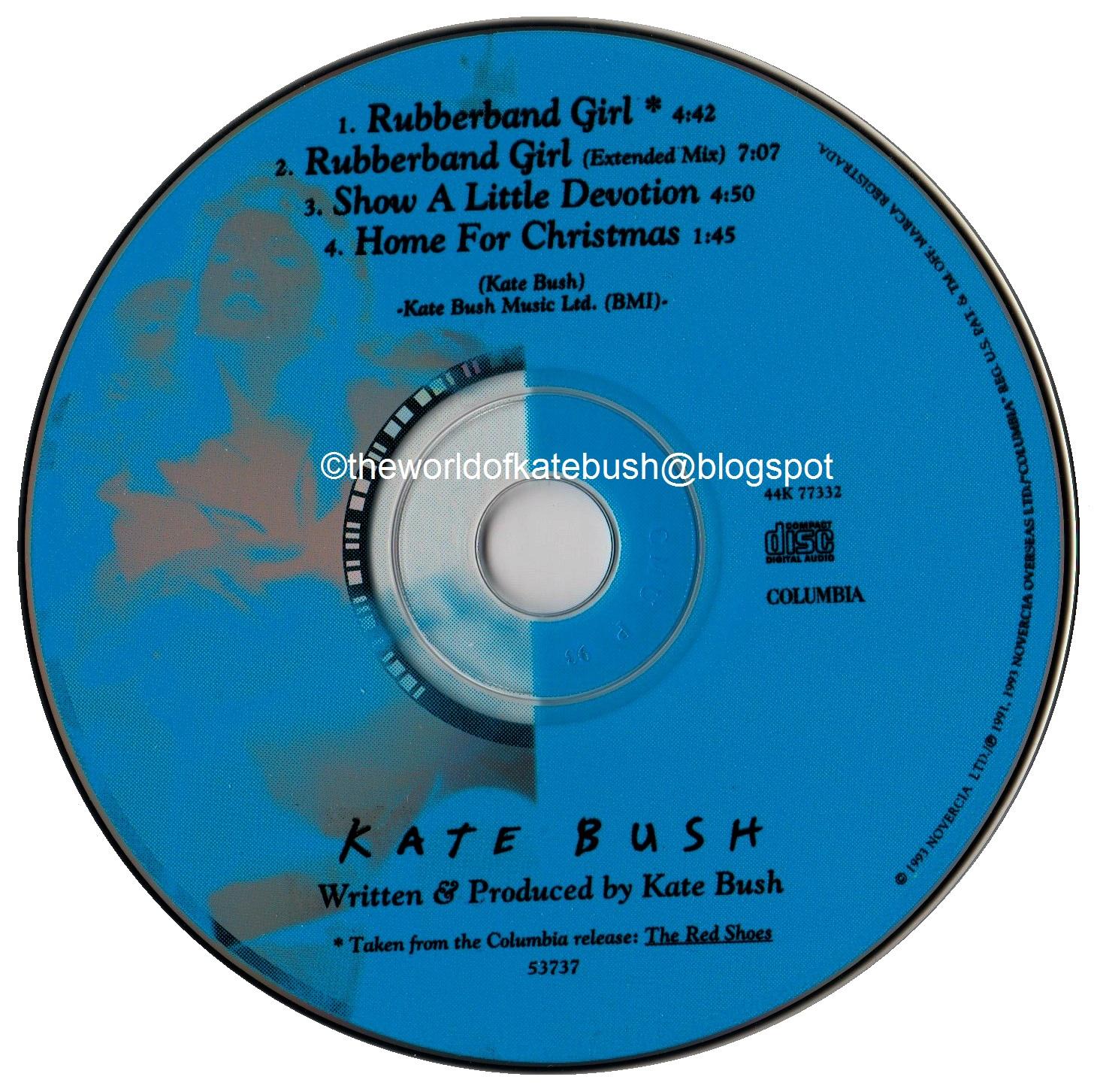 THE WORLD OF KATE BUSH: Rubberband Girl - U.S. CD Single