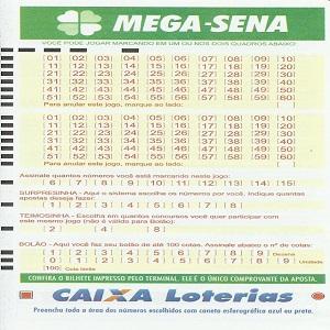 Jogo prontos Mega sena 1944 acumulada R$ 8 milhões