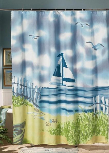 beach themed shower curtains diy