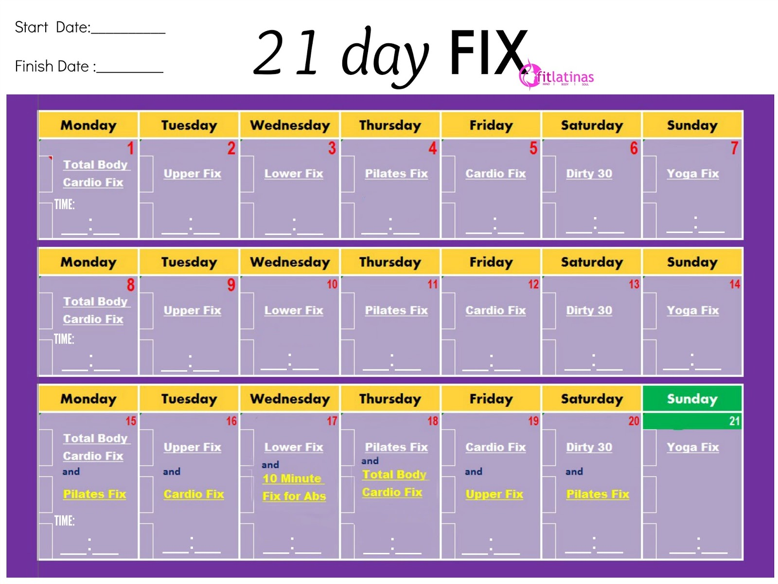 Living Life Without A User Manual 21 Day Fix And Weight Watchers