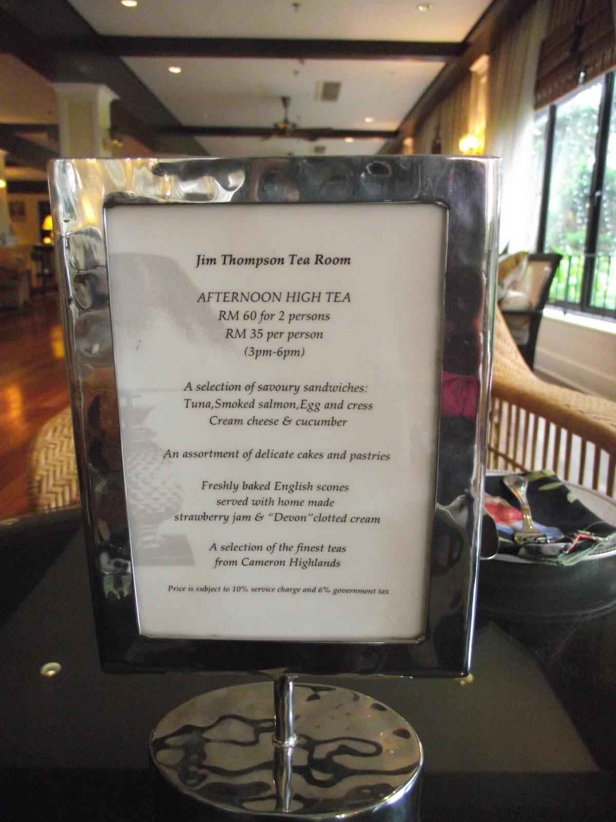 Chloe Wei Jim Thompson Tea Room At Cameron Highlands Resort