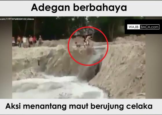 Tragis! Aksi Pemuda Menantang Derasnya Air Berujung Maut