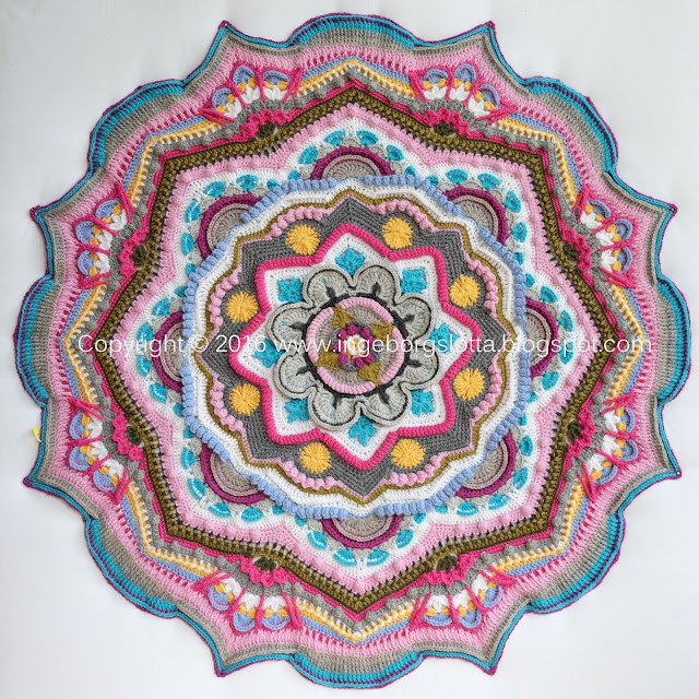 Mandala madness CAL 2016 part 9 crochet