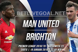 Live Streaming Manchester United vs Brighton19 Januari 2019