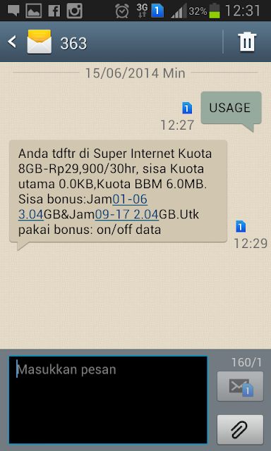 Cara Mengetahui Sisa Kuota IM3 Paket Internet Indosat CaraTutorial.com