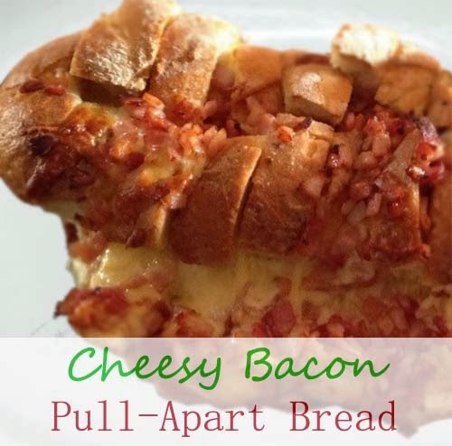 Cheesy Bacon #Pull_Apart_Bread. Click For Recipe