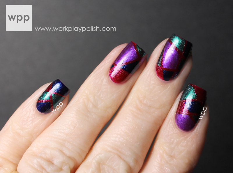 Pure Ice Art of Nail Noir Collection Geometric Nail Art