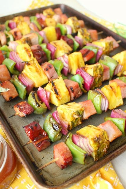 Hawaiian Ham Pineapple Kebabs
