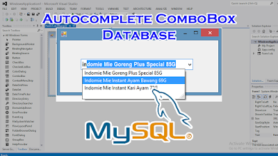 Membuat Autocomplete ComboBox Dari Database Di VB.Net