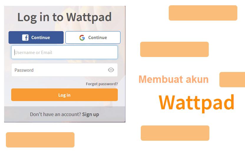 Cara Daftar Akun Wattpad