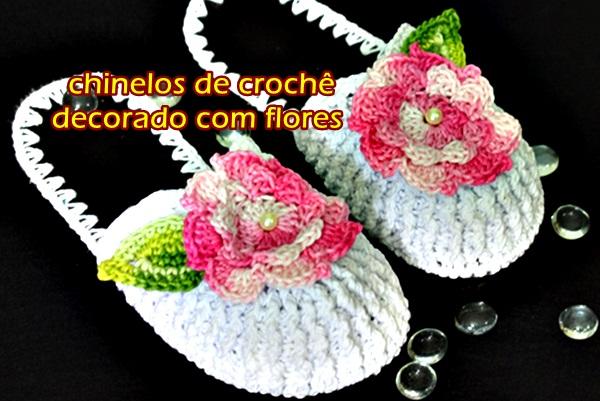 versão canhotos left handed crochet chinelo de croche fechado com flores aprender croche curso de croche edinir-croche crochetando com euroroma