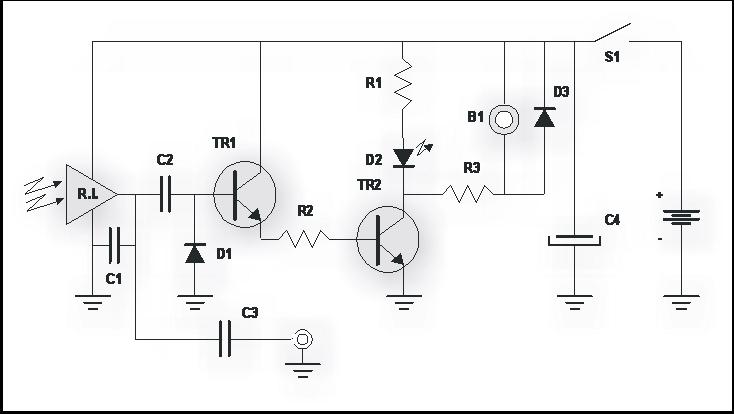 circuito o esquema del probador de controles remotos infrarrojos